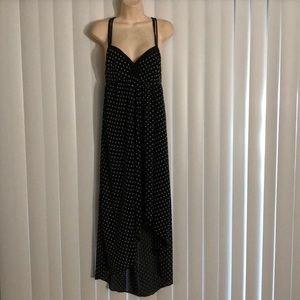 BCBG BCBGeneration Polka Dot Hi Low Maxi Dress XS